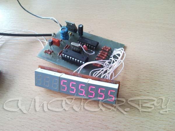 Частотомер - цифровая шкала с динамической индикацией на микроконтроллере PIC16F628A.